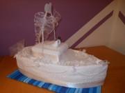 Uteráková svadobná torta ľoď
